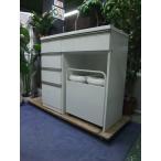R1571) ニトリ キッチンカウンター キャスターツキダストワゴン LW LIGARE H42-40C-WH 食器棚 店頭取引大歓迎♪