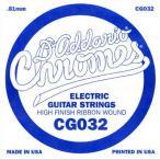 DADDARIO 0019954247058 【10個セット】D'Addario ダダリオ エレキギター用バラ弦 フラットワウンド .032 CG032
