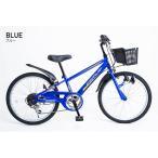 21Technology 4562320210713 22インチ子供マウンテンバイク(6段変速付き) (KD226-ブルー)