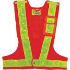 日本緑十字社 4932134193012 緑十字 多機能安全ベスト(ポリス型) 橙/黄反射 フリーサイズ ポケット3箇所付