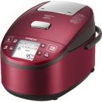 日立 RZ-WV100M-R 5.5合 打込鉄釜 圧力スチームIH炊飯器(レッド) (RZWV100MR)