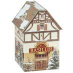 ハウス型缶入り 紅茶 ティーハウス缶 ホワイトテトラバッグ15個[BASILUR]バシラー