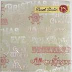 [Punch Studio]ペーパーナプキン[メール便OK]●カクテルサイズ●トープレッド ピンク ワード 2枚入り 2枚入りパンチスタジオ・クリスマス