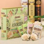 BOOK型缶入り紅茶 ティーブック ブーケ アソート ライム 48g / tea bag32袋入りBASILUR]バシラー