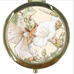 730-388-10フラワーフェアリー コンパクトミラー ヒルガオ  White Bindweed[FLOWER FAIRY] シシリーメアリーバーカーポケットミラー・鏡・コスメ