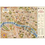 包装紙 ラッピングペーパー パリマップ5パリ地図PariMap[Cavallini ]輸入包装紙スクラップブッキング・ポスター・カルトナージュ・デコパージュ・ペーパークラ