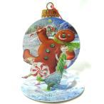 ポップアップ グリーティングカードS ジンジャーブレッド フォリー[Up With Paper]立体クリスマスカードクリスマスポップアップカード