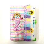 ワッペン ティッシュケース 1444 3色チェック CurlyCollection カーリーコレクションポケットティッシュケース ネイビー
