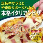 足柄牛サラミとやまゆりポークハムの本格イタリアンピザ