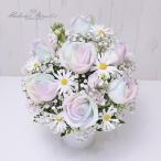 プレミアム レインボーローズ Luna ルナ と 季節の花 生花 アレンジメント (S)