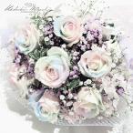 季節 の 花束 プレミアム レインボーローズ Luna ルナ 7本 と 季節の花 生花 ブーケ (S)