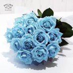 アイスブルーローズ 花束 50本 生花 ナチュラルカラー 青いバラ ブーケ