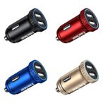 Kaedear カエディア バイク シガーソケット USB 電源 防水 国産車 ソケット カーチャージャー 2ポート スマホ 充電 急速 QC3.0 充電器 デュアル USB電源 プラグ