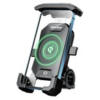 Kaedear カエディア スマホホルダー バイク ワイヤレス 充電器 置くだけ充電 防水 スマホ 携帯 ホルダークイックホールド ビートル QI USB アルミマウント 14A