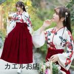 大正ロマン 袴 和服 着物 ロング 花柄 ロリータ ロリィタ服 ゆっ