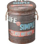 スツール ペール缶 デザイン 収納  B 椅子 イス いす チェア チェアー 完成品 リビング おしゃれ 収納ボックス ボックス 収納ケース 収納付き 収納付き