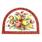 玄関マット 玄関 マット おしゃれ 室内 北欧 玄関ラグ カーペット 絨毯 厚手 洗える 小さめ 花柄 50×70 アンティーク 滑り止め