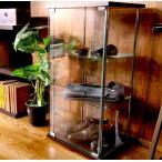 コレクションケース ショーケース ガラス  アンティーク おしゃれ フィギュア キャビネット ディスプレイ 飾り棚 3段