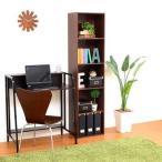 本棚 書棚 A4 扉付き カラーボックス ( ラック 電話台