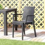 チェア 椅子 イス 2脚セット 屋外 カフェ系 テラス ガーデン 庭 ベランダ バルコニー 肘置き ガーデン家具 ガーデンチェア チェア 椅子 イス いす パラソル オ