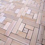 ベランダ タイル ウッドタイル 29 幅 9枚セット ( ウッドデッキ ウッドパネル ガーデン ベランダ タイル テラス バルコニー 庭 木製タイル 木製パネル 床 )