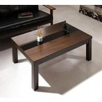こたつ センターテーブル ローテーブル 座卓 長方形 (90×60) ブラック 黒 木製 リビングテーブル 応接テーブル ちゃぶ台 コーヒーテーブル あすつく