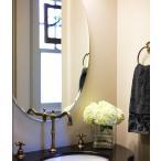 ショッピング鏡 クリスタルミラー シリーズ(トイレ、洗面所、浴室 用:オーバル):クリアーミラー(通常の鏡) クリスタルカットタイプ
