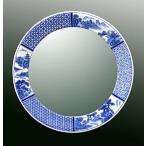ショッピングミラー 鏡、ミラー、壁掛け鏡、ウオールミラー(有田焼 伊万里焼 陶器 磁器):yt-w400h400-2.5k-sz(フレームミラー 壁掛け 壁付け 姿見 姿見