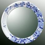 ショッピングミラー 鏡、ミラー、壁掛け鏡、ウオールミラー(有田焼 伊万里焼 陶器 磁器):yt-w400h400-2.5k-tr(フレームミラー 壁掛け 壁付け 姿見 姿見