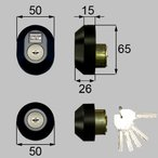 TOSTEM トステム MADERARDEX マデラードEX D3XZ1901 MIWA交換用 URシリンダー  2個同一 刻印:QDD835・QDC18・QDC19 ブラック【送料無料】