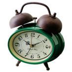 レトロ調ツインベル目覚まし時計 人気の置き時計です