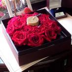 キャンドル 赤バラ フラワーボックス 記念日 生花 プレゼント 送料無料