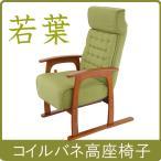 ヤマソロ リクライニングチェア 若葉 コイルバネ高座椅子83-806 グリーン