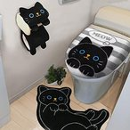 トイレタリー3点セットねこクロかわいい猫黒猫