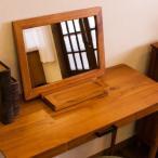 鏡 卓上ミラー 北欧アンティーク 天然木製 無垢材