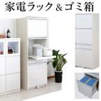 キッチン 家電 収納 ごみ箱 2分別 幅57.5cm 高さ160.5cm