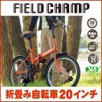 ショッピング20インチ 折りたたみ自転車 折り畳み自転車 20インチ おしゃれ FIELD CHAMP フィールドチャンプ オレンジ MG-FCP20