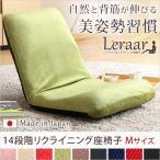 送料無料 美姿勢習慣 コンパクトなリクライニング座椅子(Mサイズ)日本製 Leraar-リーラー チェア スツール 椅子 収納家具