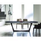 ショッピングイタリア ダイニングテーブル 天然オーク楕円天板デザイナーズテーブルイタリアBross社製幅2m mut0168bd
