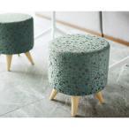 椅子スツール 座高45cmオットマンチェア木椅子14色セミオーダー丸型 国内生産品業務用店舗用 peridot
