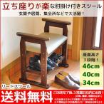 送料無料 玄関椅子や仏壇いすに最適な肘掛け付き(手すり付き)
