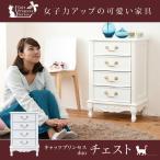 姫系 キャッツプリンセス duo チェスト 幅50 4段 ロマンティック 家具 猫脚 白家具 リビング収納