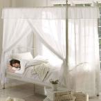 お姫様ベッド シングルベッド フレーム サイズ パイプベッド おしゃれ かわいい ベッド下収納 北欧 姫系 天蓋付き カーテン おすすめ