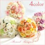 ブーケ ウエディングブーケ ブートニア 結婚式 薔薇 バラ 造花 ウェディング アレンジメント 花嫁 披露宴 ブライダルブーケ かわいい