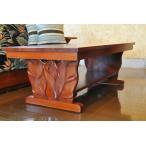 マホガニーロイヤルカービングコーヒーテーブルB ハワイアン家具 ハワイローテーブル