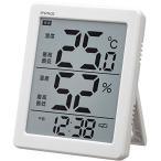 ショッピングインフルエンザ ノア精密 N-026-WH デカ文字デジタル温湿度計 エアサーチノーティス ホワイト (マグ MAG/デジタル表示/大画面表示)