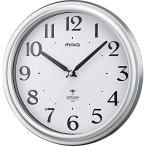 ノア精密 W-649 SM-Z 電波壁掛け時計 アストル シルバー アナログ表示 (電波時計/連続秒針/夜間秒針停止)