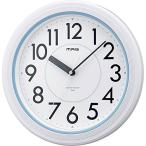 ノア精密 W-662WH-Z 壁掛け時計 アクアガード バスクロック ホワイト IPX7防水仕様 アナログ表示 MAG(マグ)