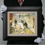 エドゥアール・マネ: 塗装工夫のいるモニエ街(F3号・273×220)