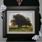ルソー: アブルモンの樫の木(F8号・455×380)
